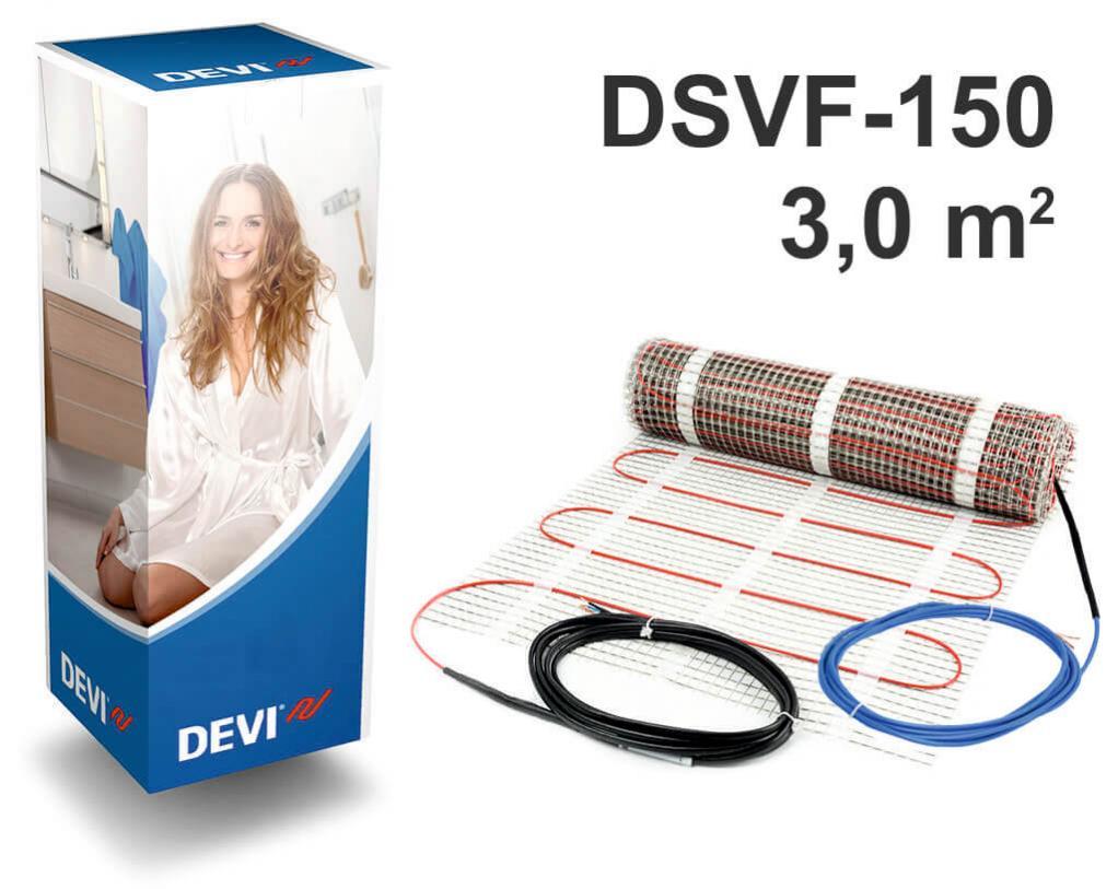 """DEVIheat™ 150S - 3,0 m2 """"Нагревательный мат"""""""