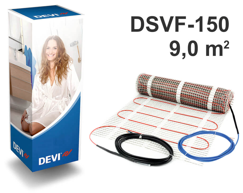"""DEVIheat™ 150S - 9,0 m2 """"Нагревательный мат"""""""