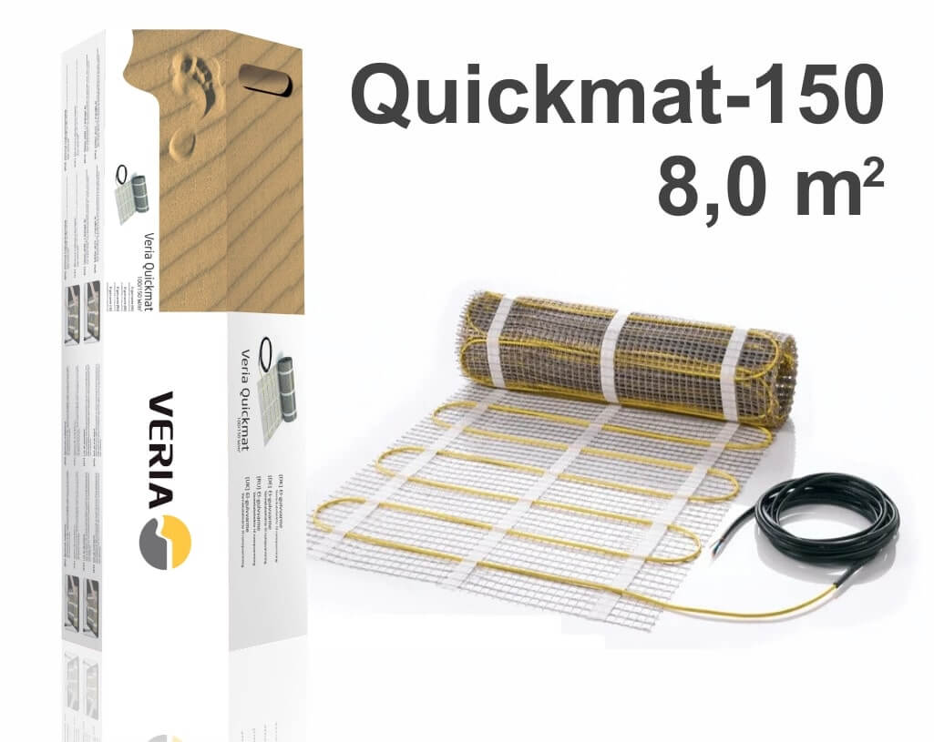 """Quickmat-150 - 8,0 m2 """"Нагревательный мат"""""""