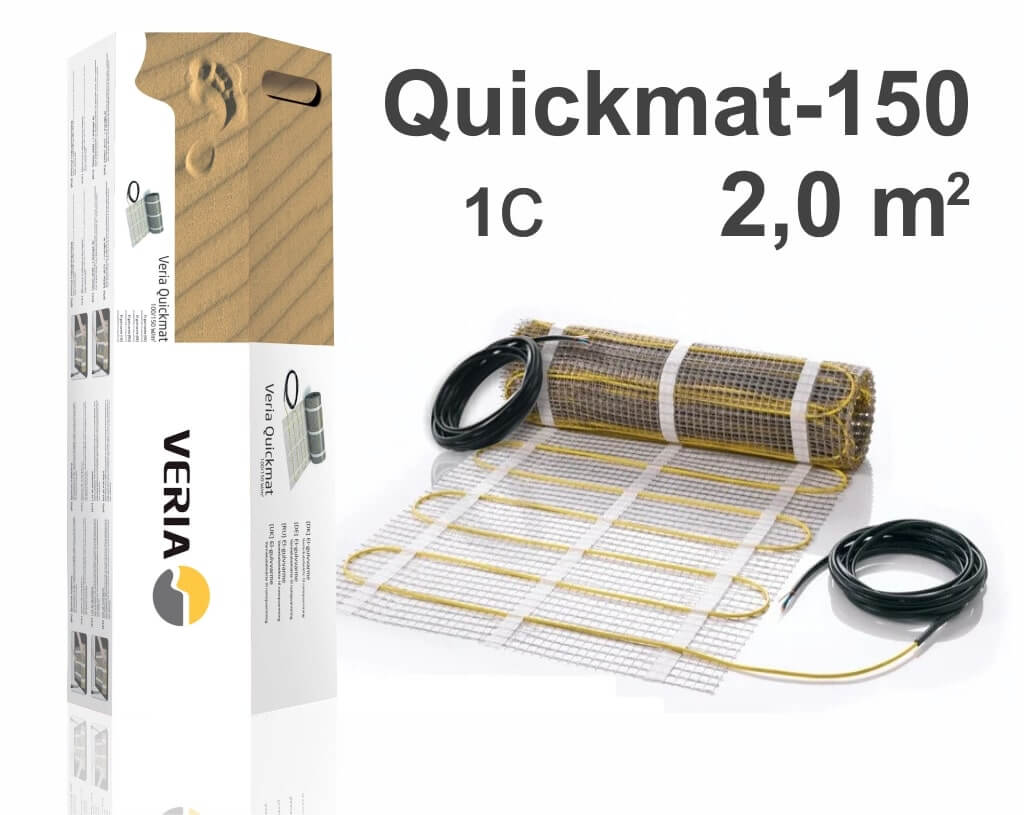"""Quickmat-150 1C - 2,0 m2 """"Нагревательный мат"""""""