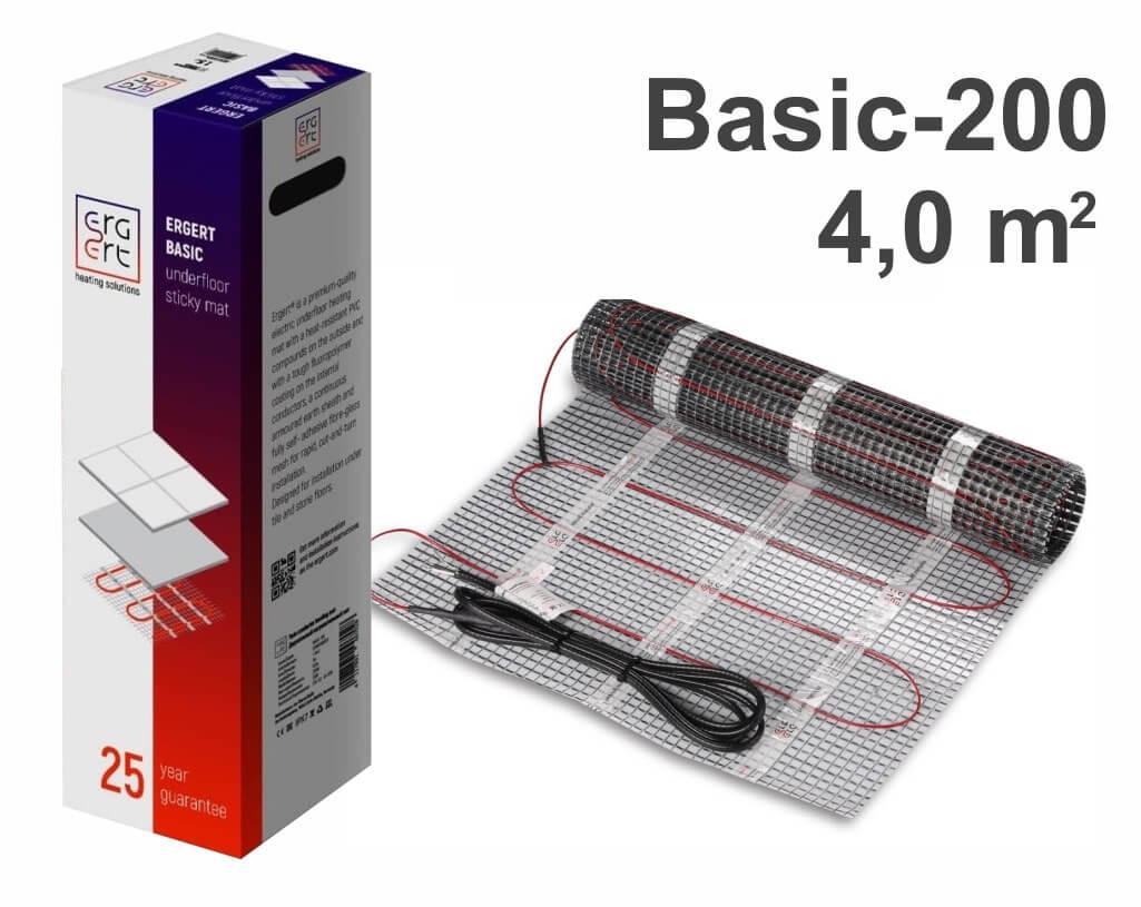 """ERGERT Basic 200 - 4,0 m2 """"Нагревательный мат"""""""