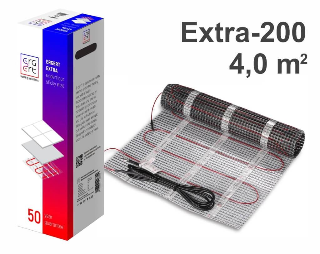 """ERGERT Extra 200 - 4,0 m2 """"Нагревательный мат"""""""