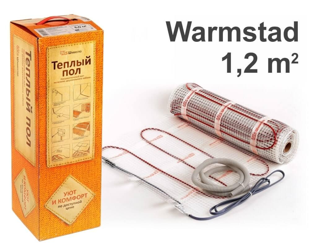 """Warmstad 150 - 1,2 m2 """"Нагревательный мат"""""""