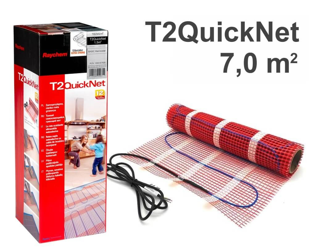 """RAYCHEM T2QuickNet 160 - 7,0 m2 """"Нагревательный мат"""""""