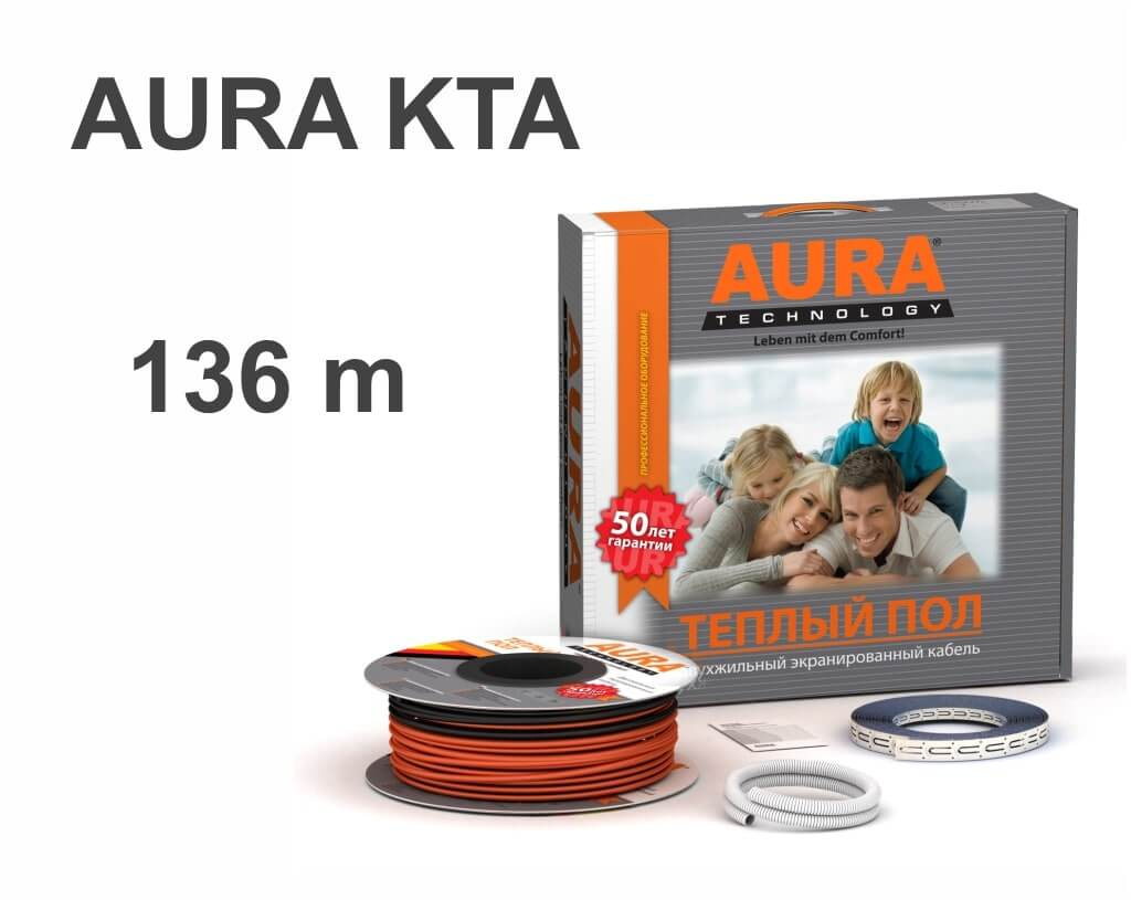 """AURA KTA - 136 м/п. """"Нагревательный кабель"""""""