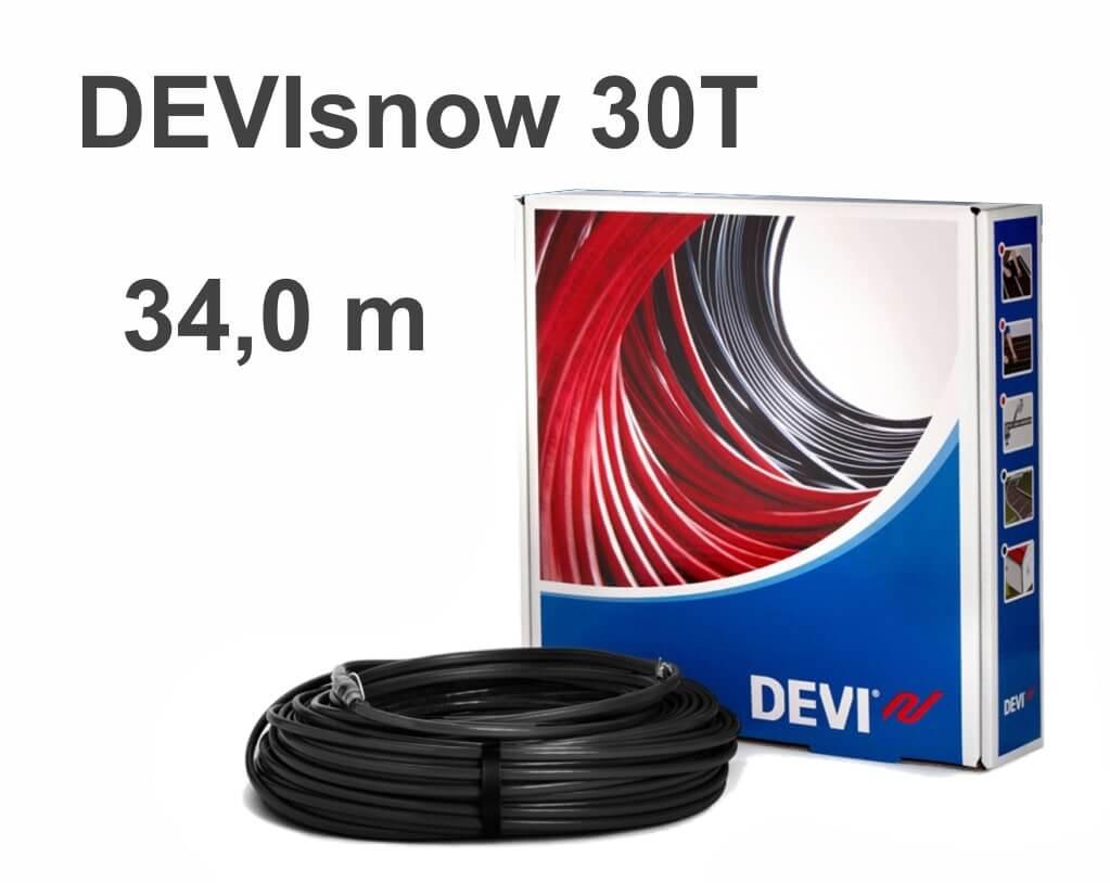 """DEVIflex DEVIsnow 30T (DTCE-30) - 34 м """"Нагревательный кабель"""""""